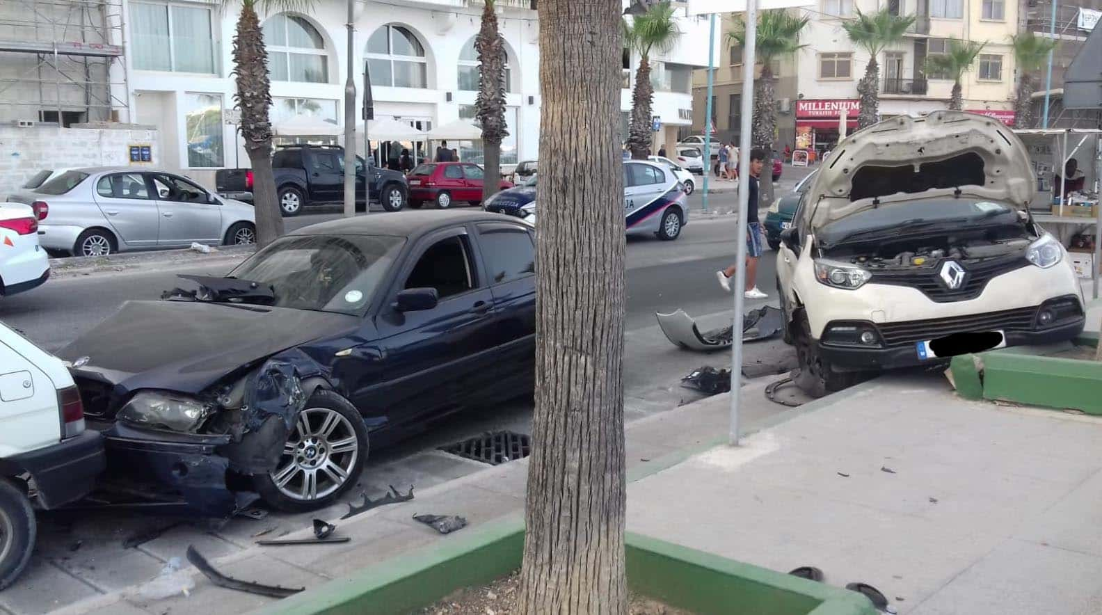 Incidente d'auto a Sliema