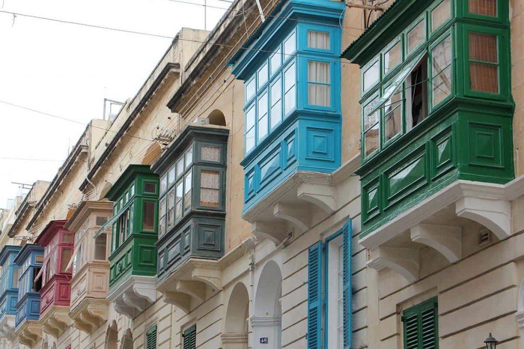 Tipici balconi maltesi