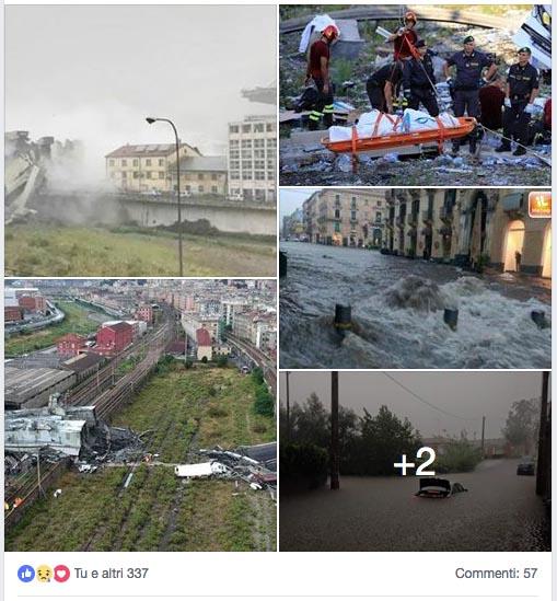 Post su facebook
