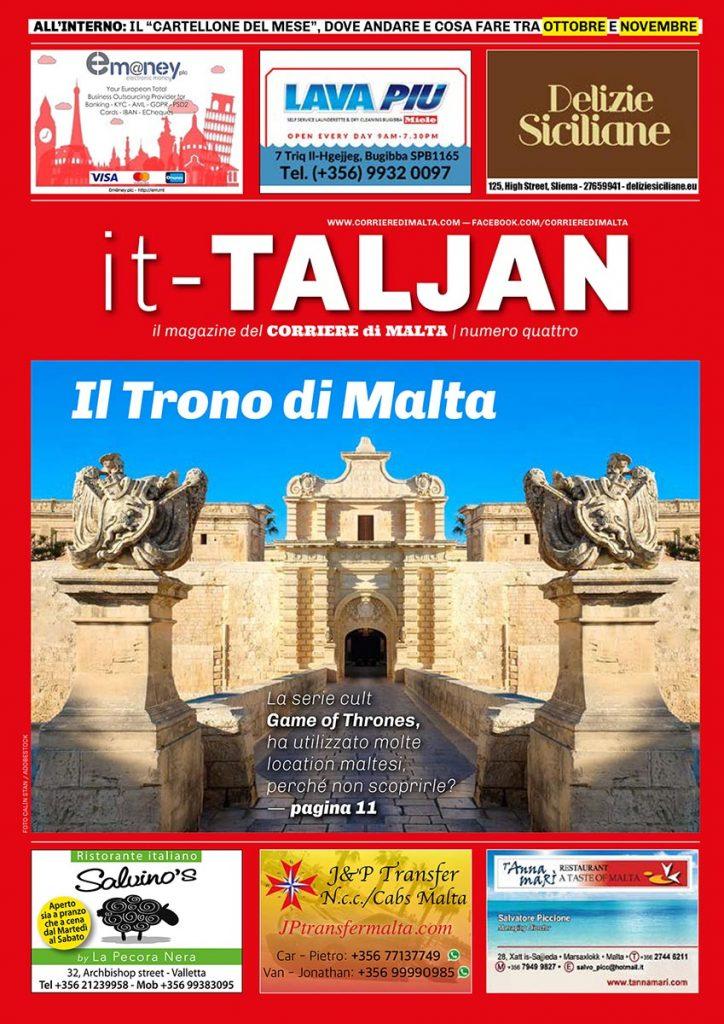 """Copertina del quarto numero del magazine """"it-Taljan"""""""