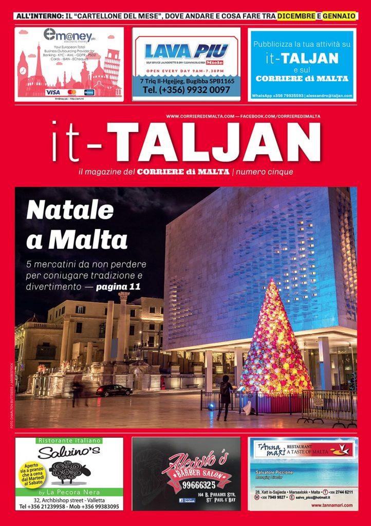 """Copertina del quinto numero del magazine """"it-Taljan"""""""